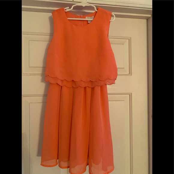 Girls Children's Place dress size 10 coral